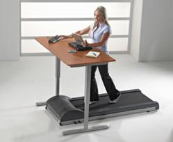 User walking and working with the LifeSpan DT-3