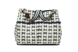 Queensdale Navy Bow Tote