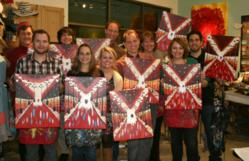 Team from Denver Marketing Agency Webolutions - Monthly Team Event - Painting Party