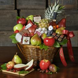 Orchard Fresh Fruit, Sparking Cider, Candy Cane Truffles, and Holiday Treats