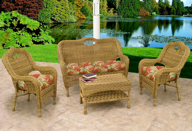 Savannah Wicker Furniture Set4 Piece Outdoor Wicker Funture Set