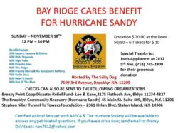 Hurricane Sandy, benefit, fund raiser, charity, Bay Ridge, Brooklyn, Staten Island