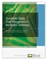 Malk Announces New Study Showing Supply Chain Managers at IT Companies Value Sustainability