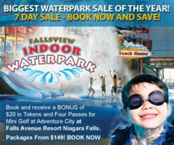 The Biggest Sale of the Year on Niagara Falls Hotel Waterpark Packages