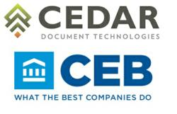 CEB TowerGroup and Cedar Document Technologies