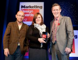 mark-making* accepting marketing award
