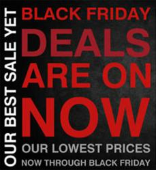 Promo Banner for TheaterSeatStore.com Black Friday Sale
