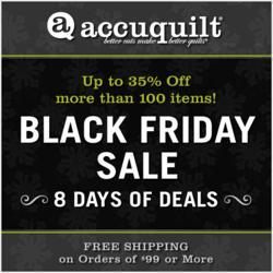 AccuQuilt is giving quilters a chance to save big on all their favorite gift and quilting items.