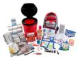 Emergency supplies in the Bucket Survival Kit are packed securely in a five gallon bucket with toilet seat lid.