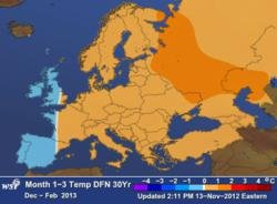 WSi European Weather Outlook Dec. 2012- Feb. 2013