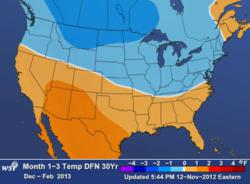 WSI US Weather Outlook Dec. 2012 - Feb. 2013