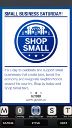 Glyder support Small Business Saturday Content