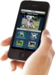 Photo of a person using the DogSpotters app to compare similar breeds.