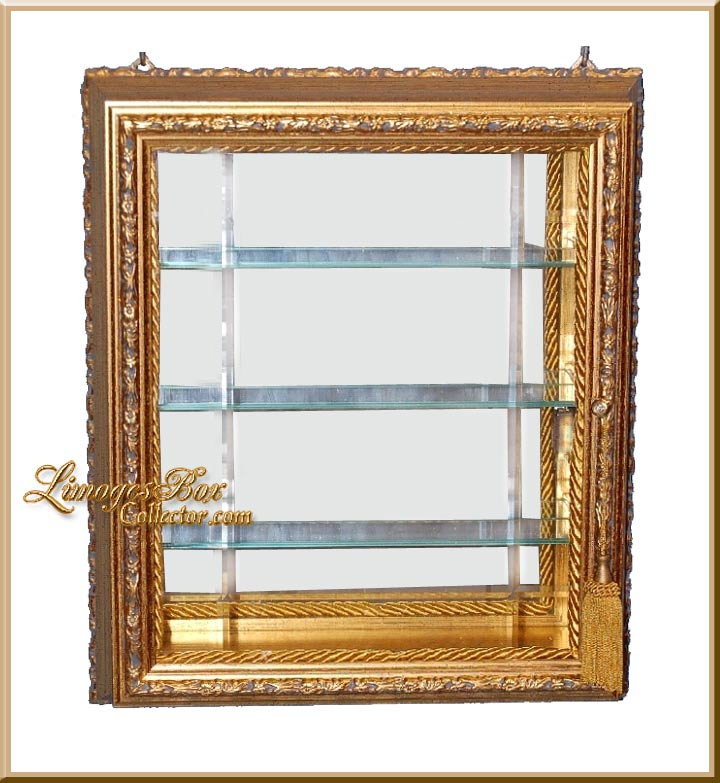 Wall-Mount Curio Cabinet for Collectible Limoges  BoxesLimogesBoxCollector.com ...