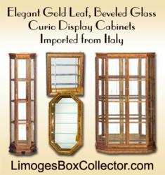 Italian Curio Cabinets for Limoges Box Collectibles at LimogesBoxCollector.com