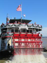 New Orleans Steamboat Natchez at Christmas
