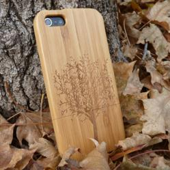 Wood iPhone 5 Case with laser engraving