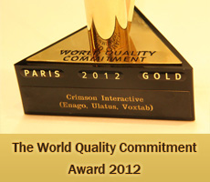 Crimson interactive World Quality Commitment Award 2012, Enago Quality Award, Ulatus Quality Award, Voxtab Quality Award, Enago Quality of services, Quality English Editing services