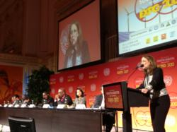 UNDP Associate Administrator Rebeca Grynspan addresses the opening ceremony of the 2012 Global South-South Expo in Vienna
