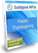 Product box image for the Happy Thanksgiving Subliminal MP3