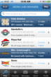 A list of offers from the Zions Cash Rewards Mobile App
