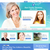 Dr. Robert Barr's new homepage stands out in shades of blue