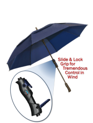 Photo of GRIP2 umbrella with zoom image of slidable grip