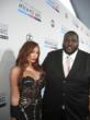 Jenna Bentley and actor Quinton Aaron arriving at the 2012 American Music Awards