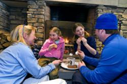 A Family at Okemo Enjoying S'mores