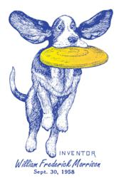 Image of PatentWear's Frisbie dog design