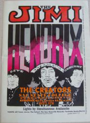 Jimi Hendrix Experience 1968 Sacramento State Concert Poster