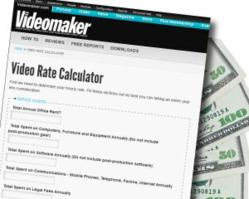 The Videomaker Video Rate Calculator is designed to help freelance videographers find the best rate.