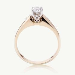Modern Trinity Solitaire Ring at CelticPromise.com