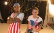 "Ben J of New Boyz with Jeremy Fernandez on set filming the music video for ""Miss America"""