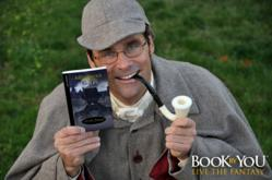 MysteryByYou.com, Publisher, Michael Pocock with new personalized Agatha Christie novel.