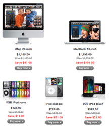 Apple Product on Xmas Deals 2012