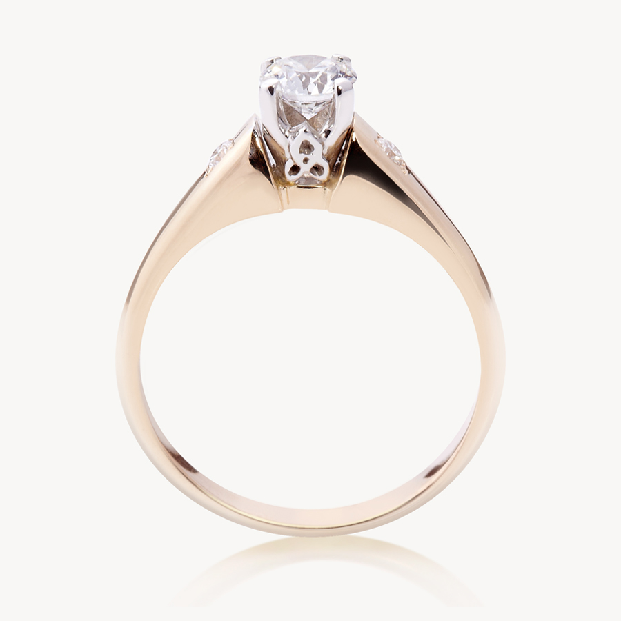 Modern Trinity Solitaire Ring At Celticpromisemodern Trinity Solitaire  Ring,bining Traditional Irish Craftsmanship And Culture With A Modern