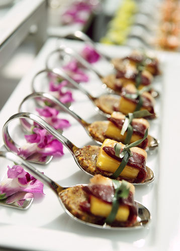 Tips from impeccable taste catering on how to make a for Canape cocktail spoons