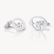 Modern Claddagh Cufflink, Love Loyalty Friendship, Celtic Promise