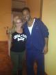 Will Smith and Steps4paws founder, Vered Nisim, pose for a photo op!
