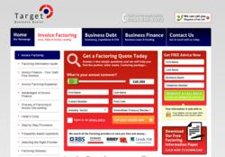 Target Business Assist - Invoice Factoring Page Layout