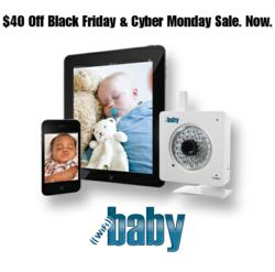 WiFi Baby Offers $40 Discount for Black Friday and Cyber Monday on iPhone, iPad, Android Baby Monitor