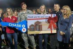 Sergeant Bryan Ball receives new home