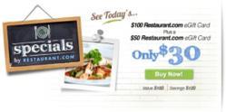 Restaurant.com Restaurant Gift Cards