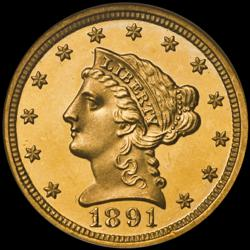 1891 $2.50 Gold Coin