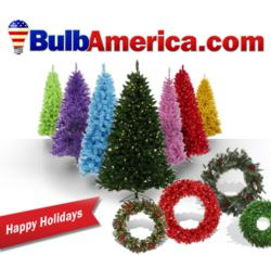 Pictured Christmas Trees available at BulbAmerica.com
