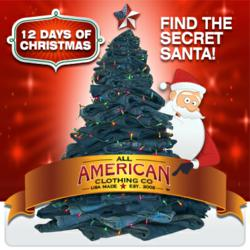 Every American Made clothing item sold during the '12 Days of Christmas' goes towards benefitting the economy and creating American jobs.
