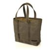 "The Outback Tote—shown here is ""Daily"" size with ""Grizzly"" leather"