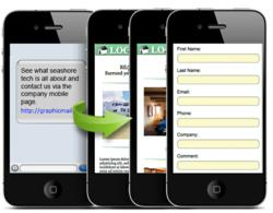 GraphicMail's SMS innovation: send a text message with link to your mobile site