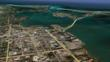 Rosemary District in relation to Sarasota Bay and the Gulf.  Image Copyright 2012 Google and TerraMetrics